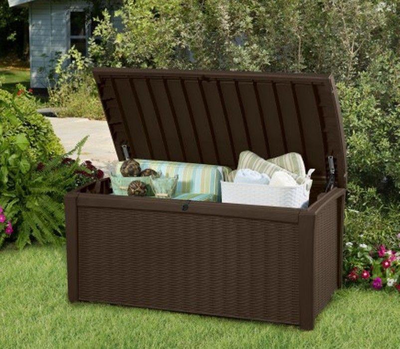 skrzynia na balkon borneo box keter 400 l 17197731 aledyskont pl. Black Bedroom Furniture Sets. Home Design Ideas