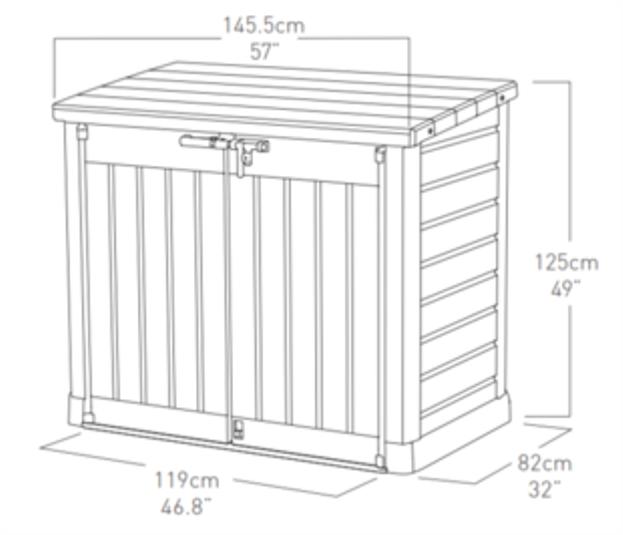szafa ogrodowa store it out max keter 6028 aledyskont pl. Black Bedroom Furniture Sets. Home Design Ideas