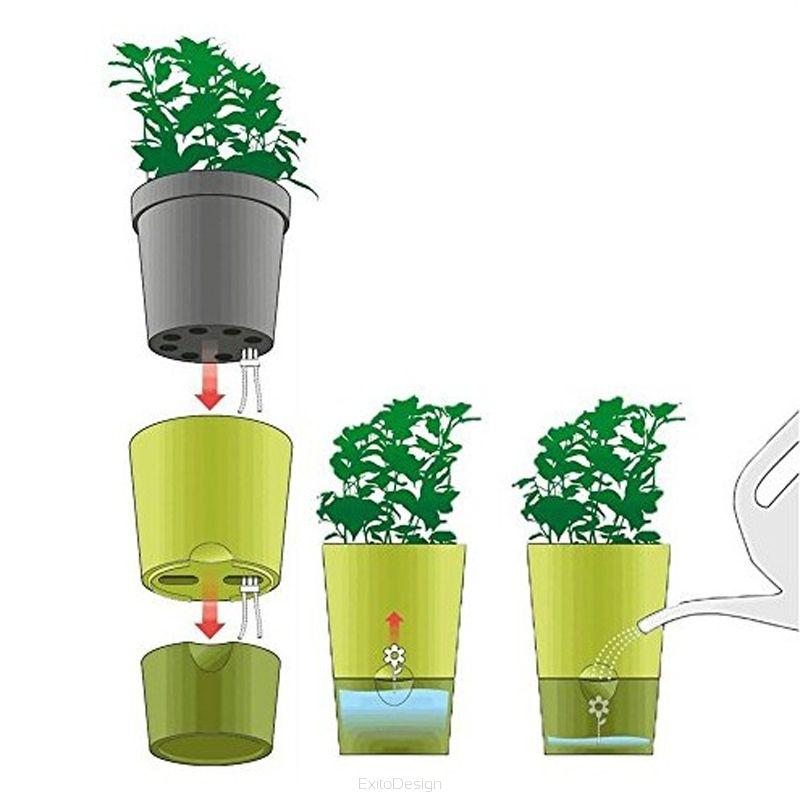 Kwietnik Na Zioła Zielnik Biały Fresh Herbs Emsa 514244