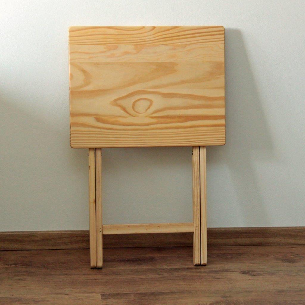 Stolik Składany W Kolorze Drewna Sd123 Aledyskontpl